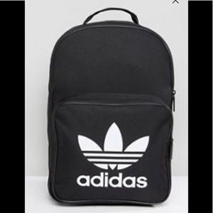 Adidas logo black backpack